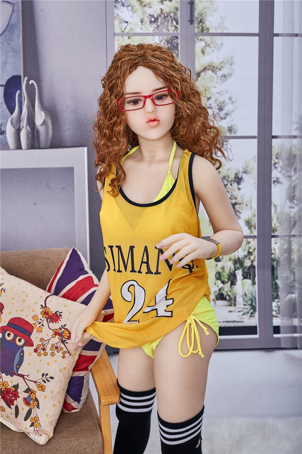 miley 145cm medium tits skinny red hair tpe small teen sex doll(4)