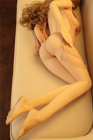 sheridan 155cm brown hair skinny flat chested tan skin tpe sex doll(9)