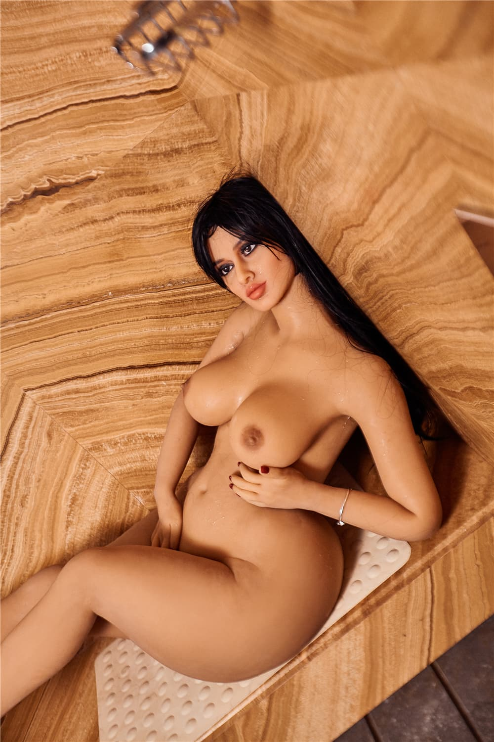 fairuza 156cm black hair curvy medium tits tan skin tpe sex doll