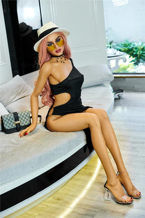 christy 165cm blonde featured athletic flat chested tpe sex doll(5)