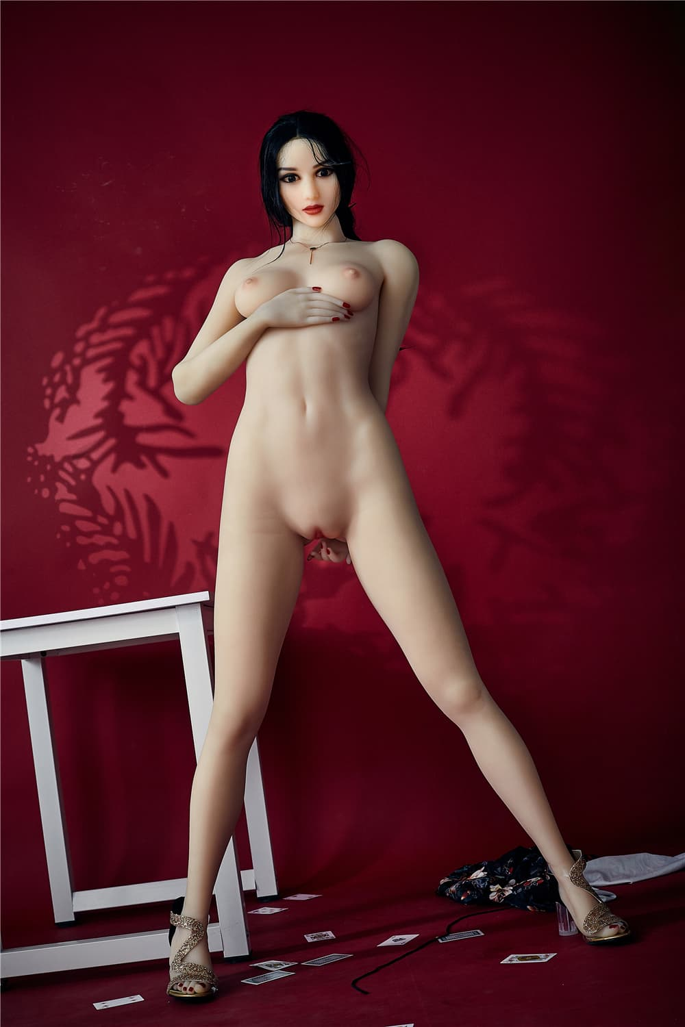 bonita 168cm black hair athletic flat chested tpe sex doll(12)