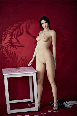 bonita 168cm black hair athletic flat chested tpe sex doll(13)