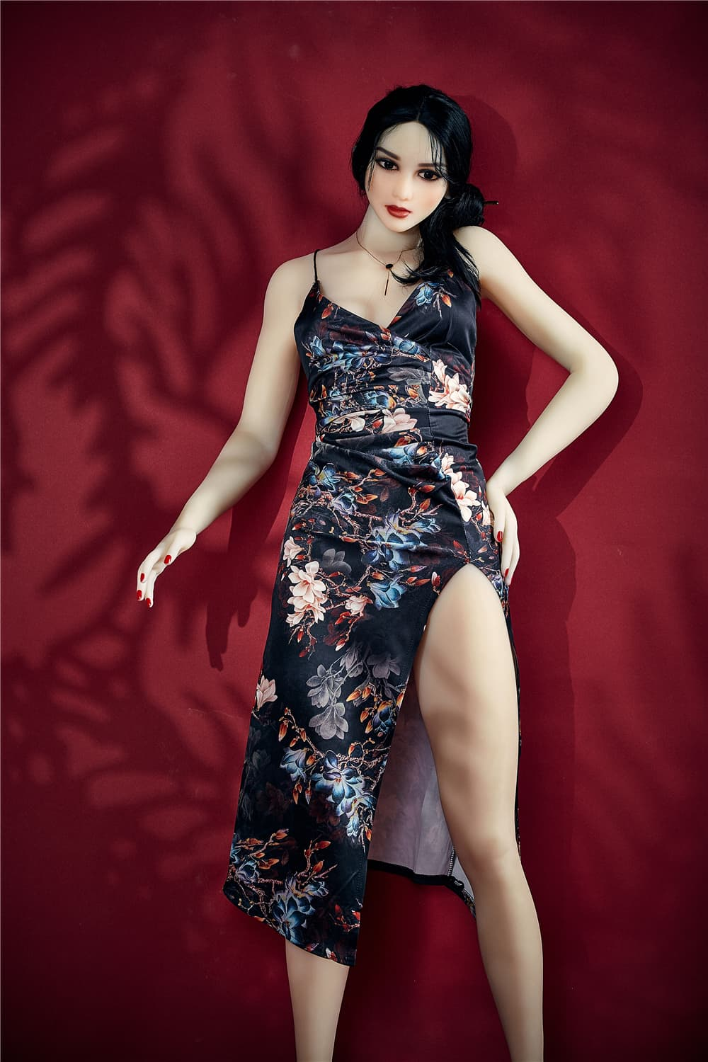 bonita 168cm black hair athletic flat chested tpe sex doll(3)