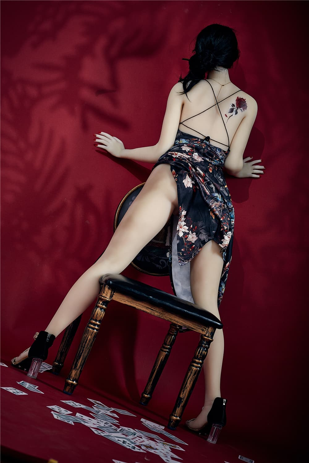 bonita 168cm black hair athletic flat chested tpe sex doll(7)