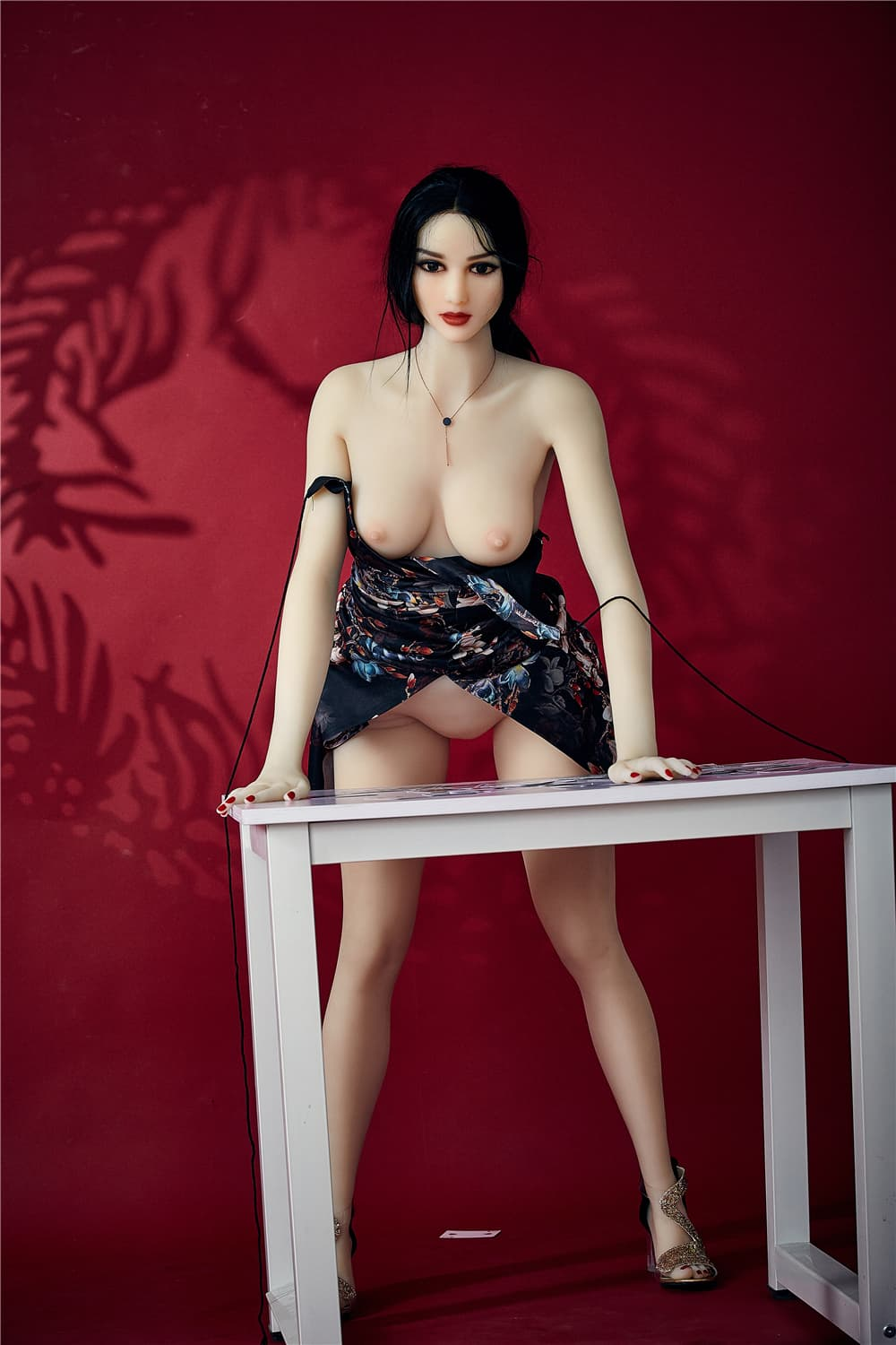 bonita 168cm black hair athletic flat chested tpe sex doll(9)