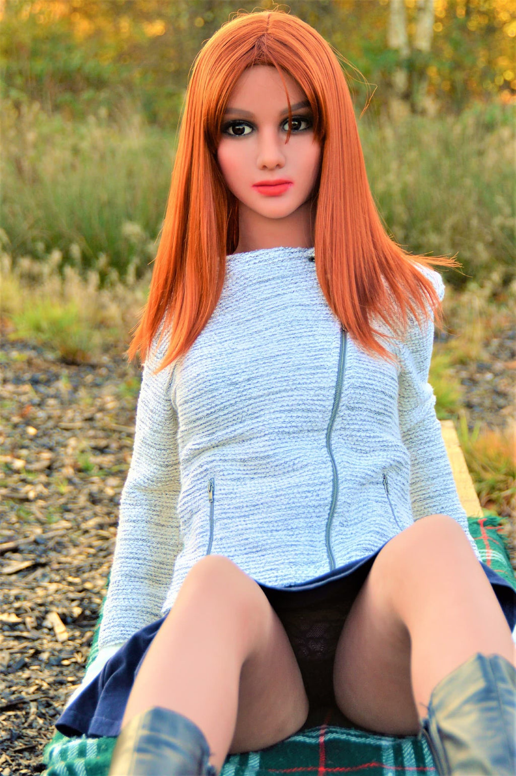 cristina 155cm skinny red hair flat chested tpe teen sex doll