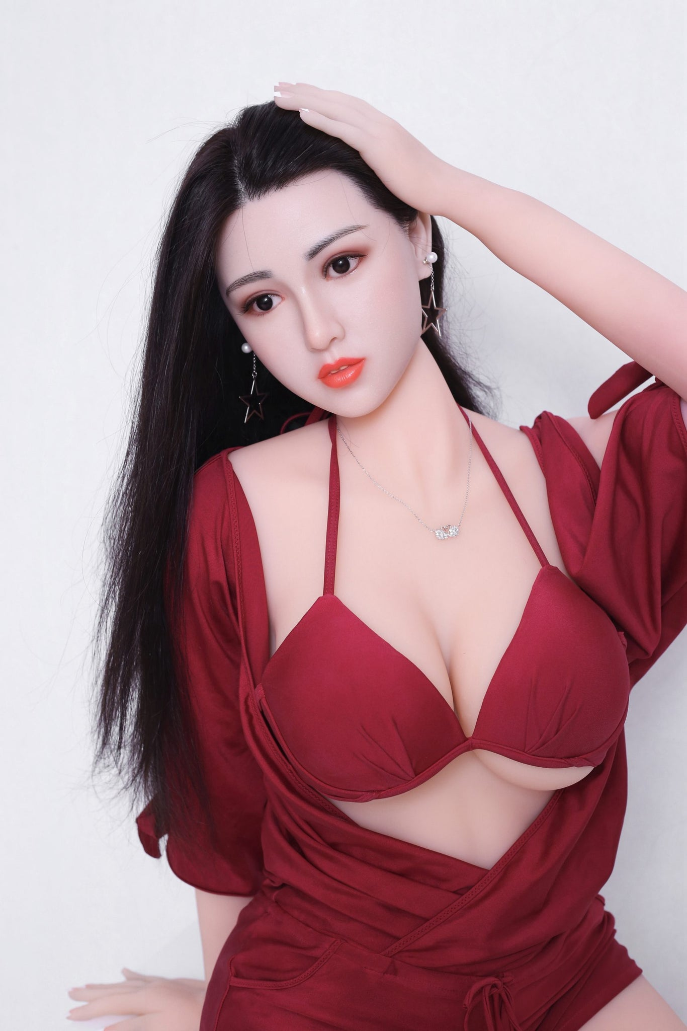 kiki 165cm af black hair big boobs athletic tpe sex doll(2)