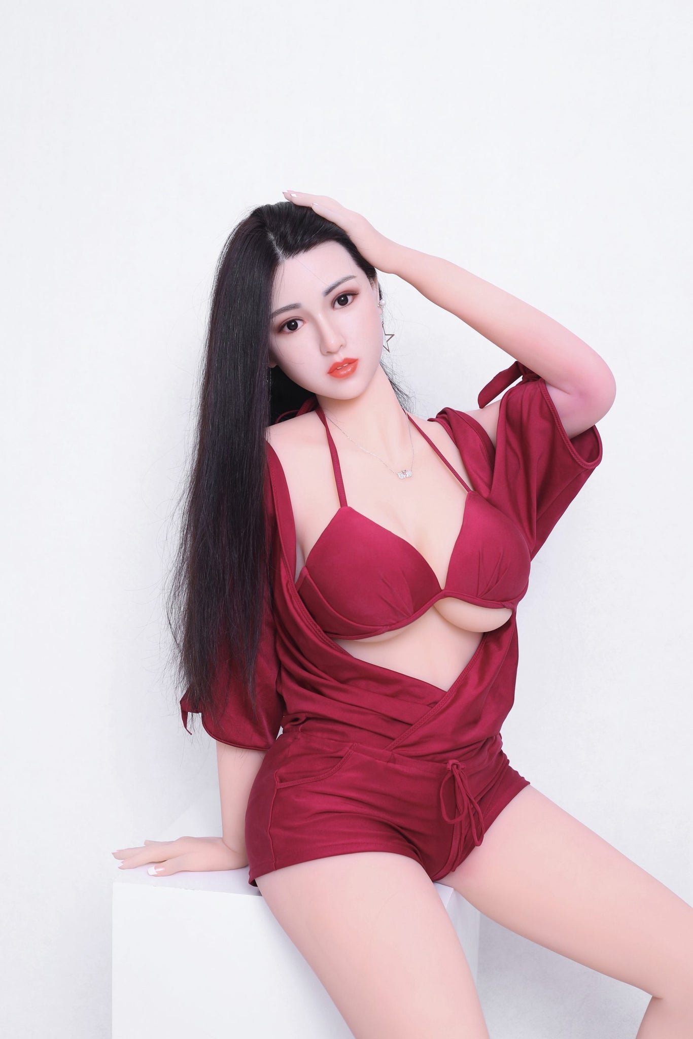 kiki 165cm af black hair big boobs athletic tpe sex doll(3)