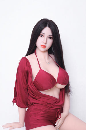 kiki 165cm af black hair big boobs athletic tpe sex doll(4)