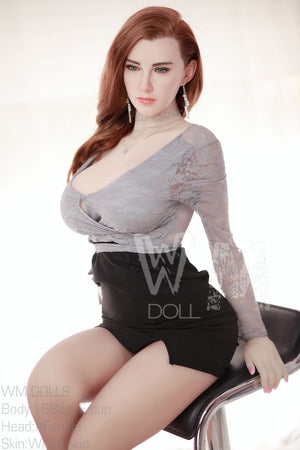 belle 168cm big boobs athletic red hair tpe wm sex doll(3)