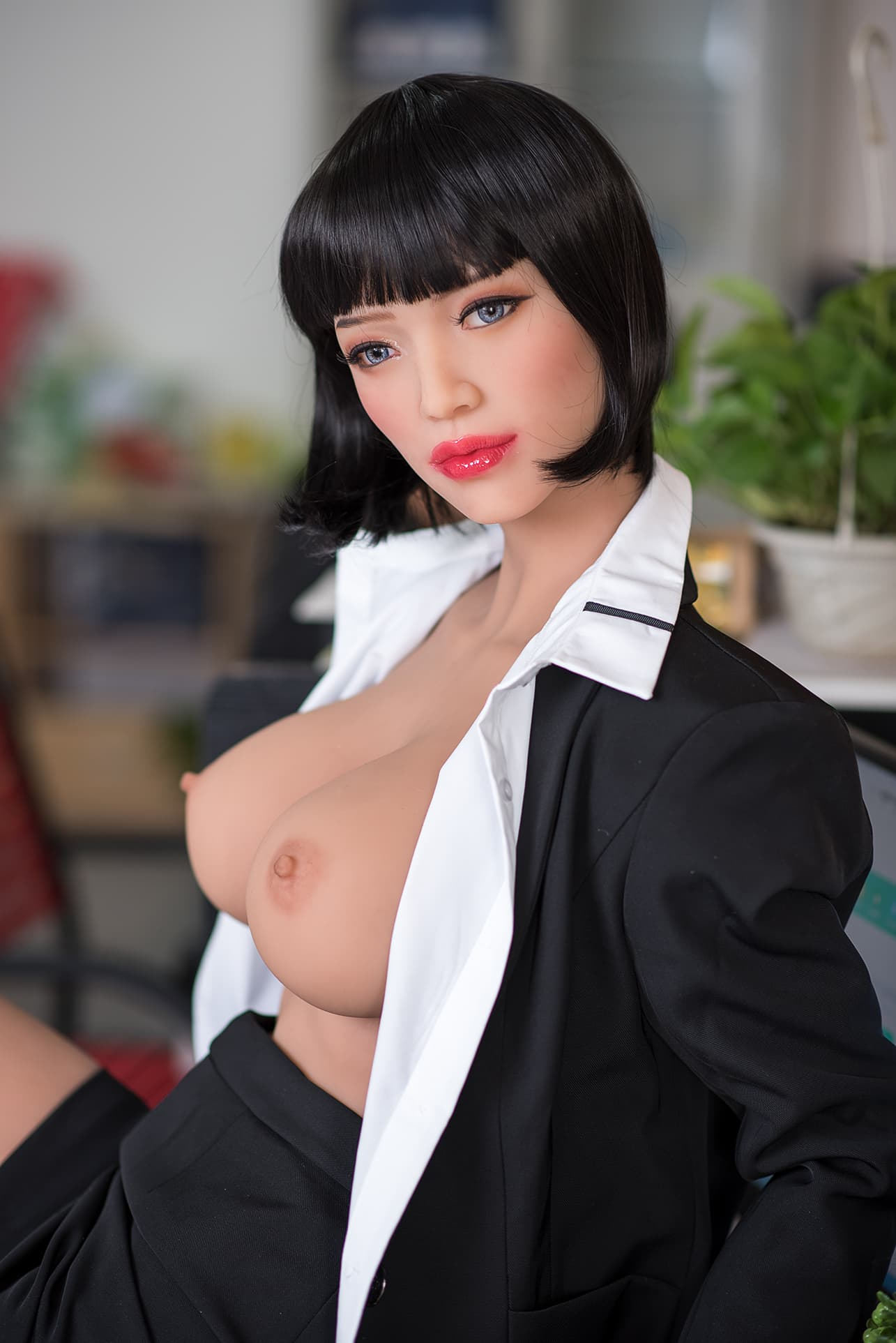 phranc 165cm black hair big boobs athletic tpe sex doll(4)