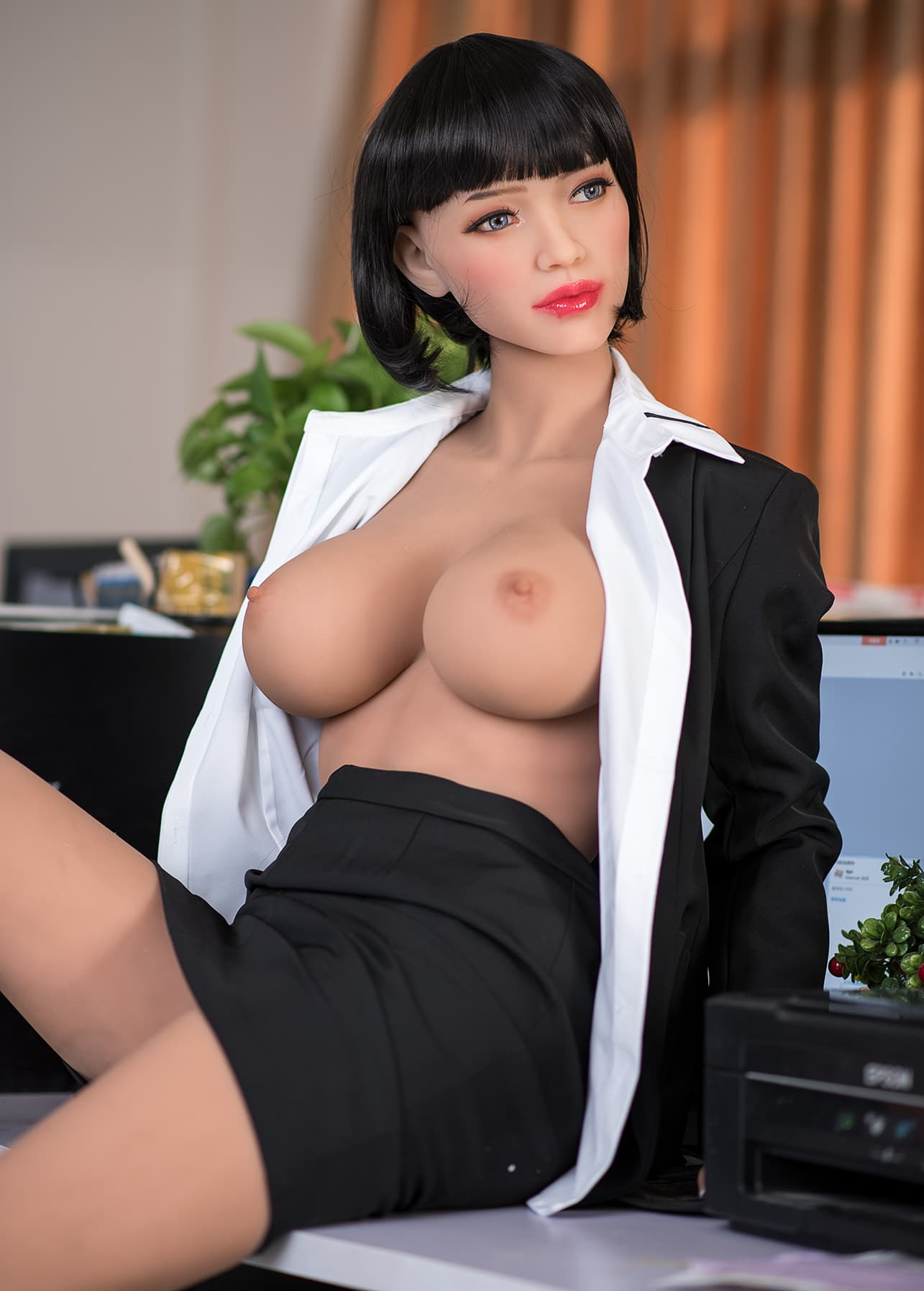 phranc 165cm black hair big boobs athletic tpe sex doll(6)