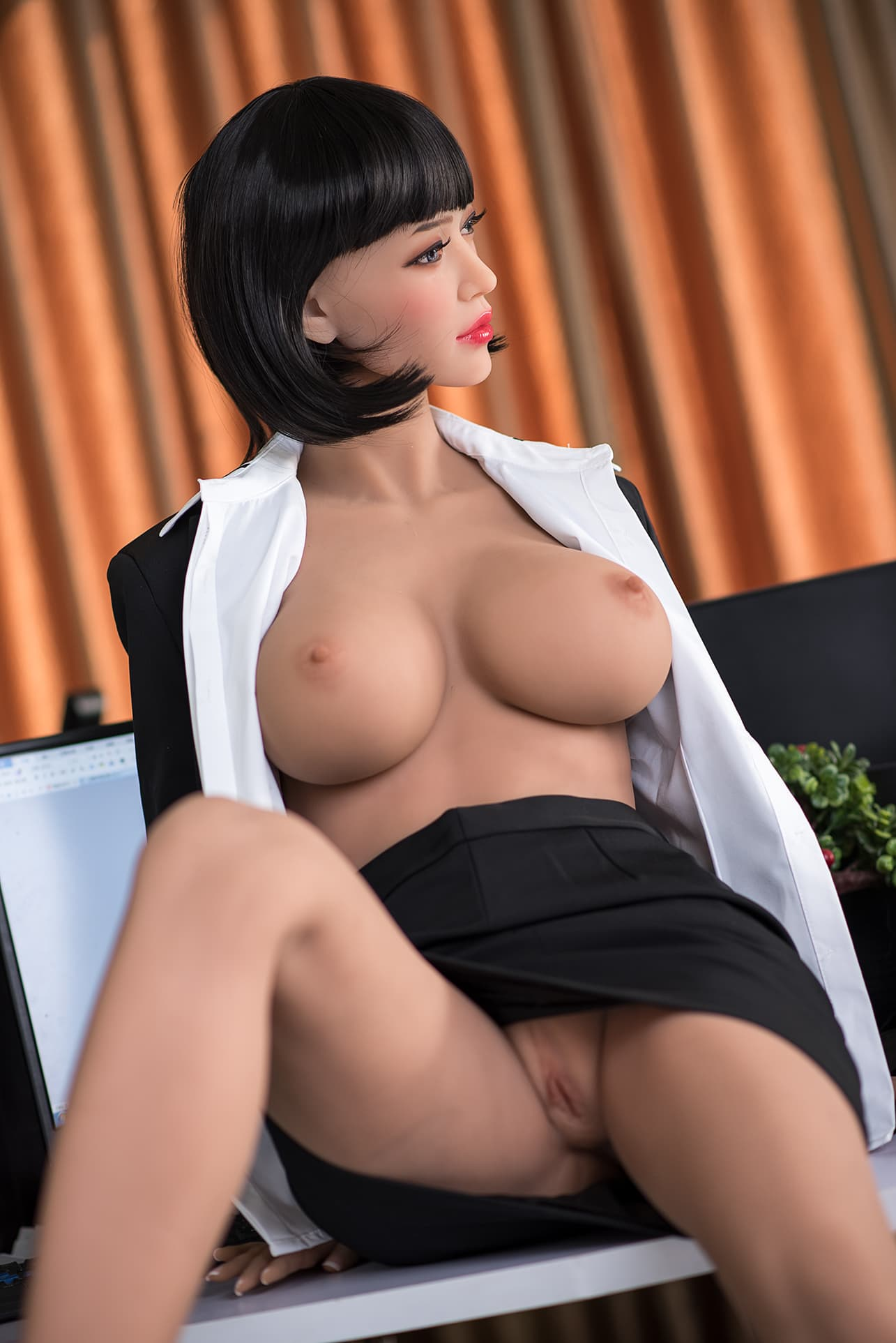 phranc 165cm black hair big boobs athletic tpe sex doll(8)