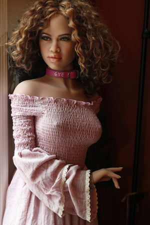 mare 150cm brown hair skinny flat chested tan skin tpe sex doll(9)
