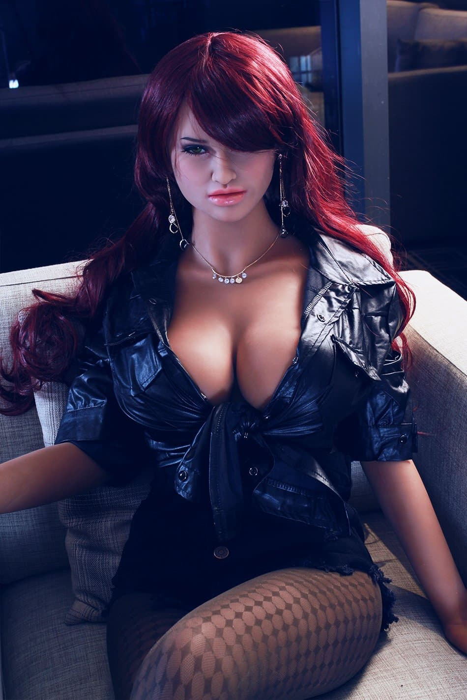 corina 165cm jy big boobs athletic red hair tan skin tpe sex doll(11)
