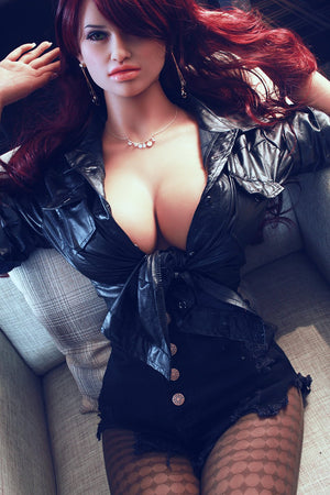 corina 165cm jy big boobs athletic red hair tan skin tpe sex doll(2)