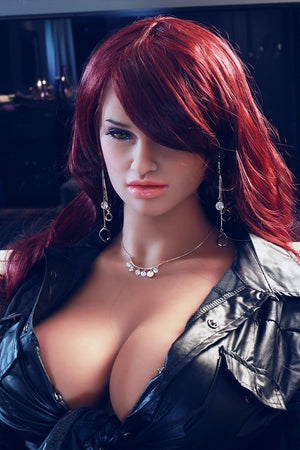 corina 165cm jy big boobs athletic red hair tan skin tpe sex doll(3)
