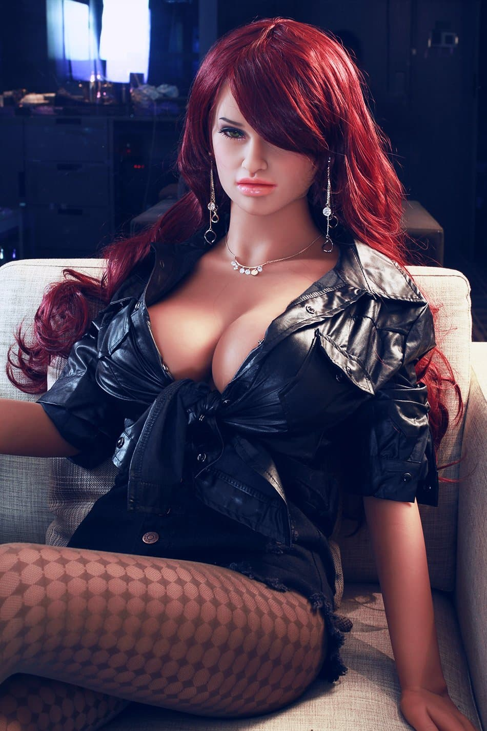 corina 165cm jy big boobs athletic red hair tan skin tpe sex doll(5)