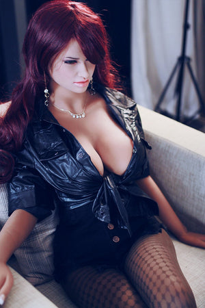 corina 165cm jy big boobs athletic red hair tan skin tpe sex doll(6)