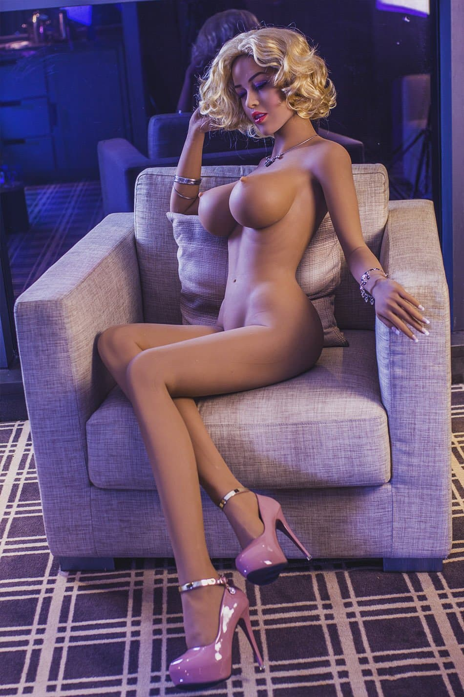 josephine 165cm blonde jy big boobs athletic tan skin tpe sex doll(10)