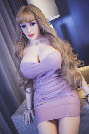 autumn 163cm brown hair curvy jy big boobs sex doll(11)