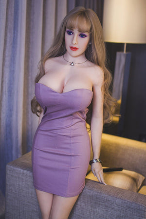 autumn 163cm brown hair curvy jy big boobs sex doll(2)