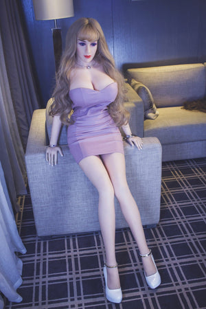 autumn 163cm brown hair curvy jy big boobs sex doll(3)