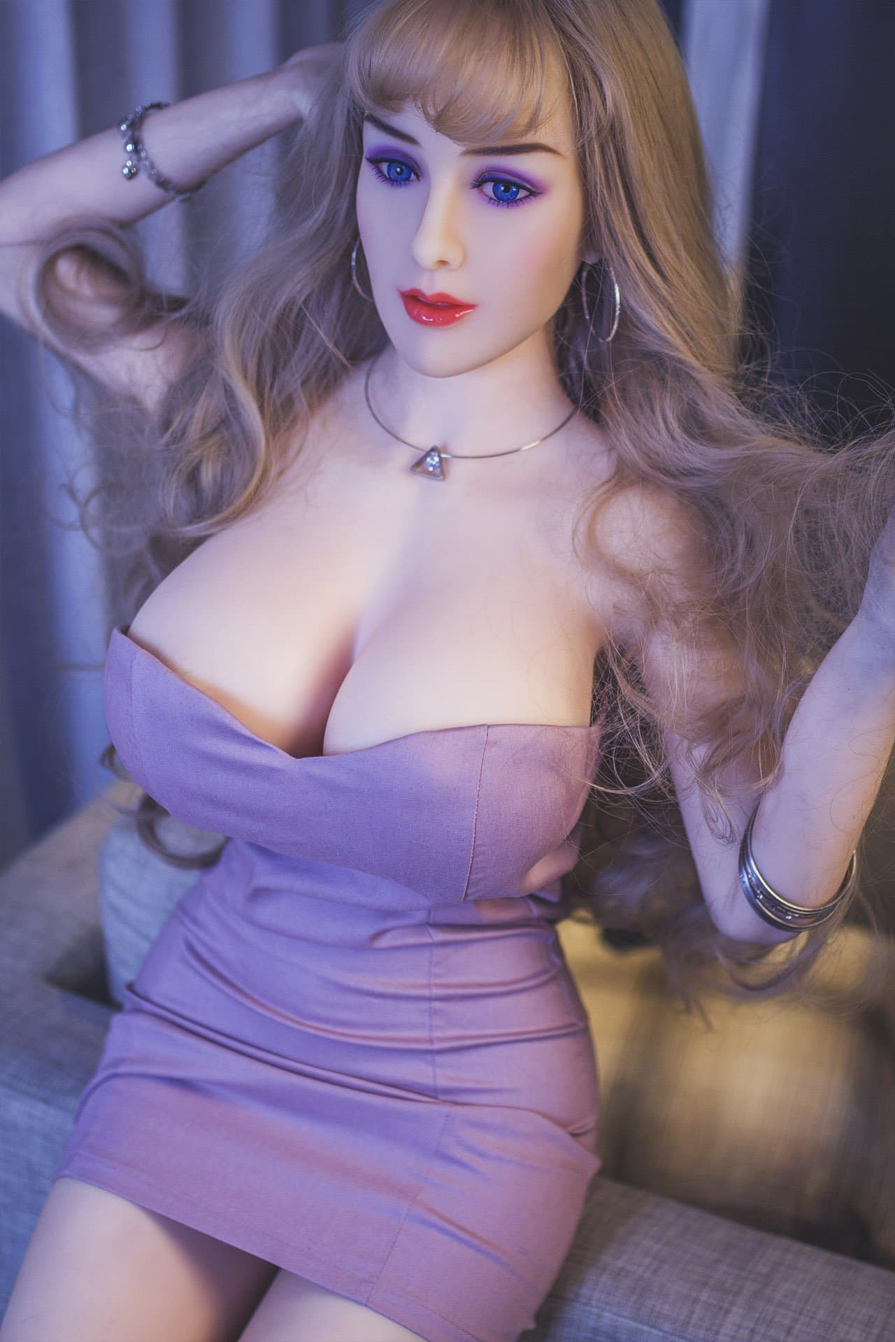 autumn 163cm brown hair curvy jy big boobs sex doll(4)