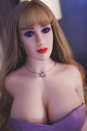 autumn 163cm brown hair curvy jy big boobs sex doll(9)