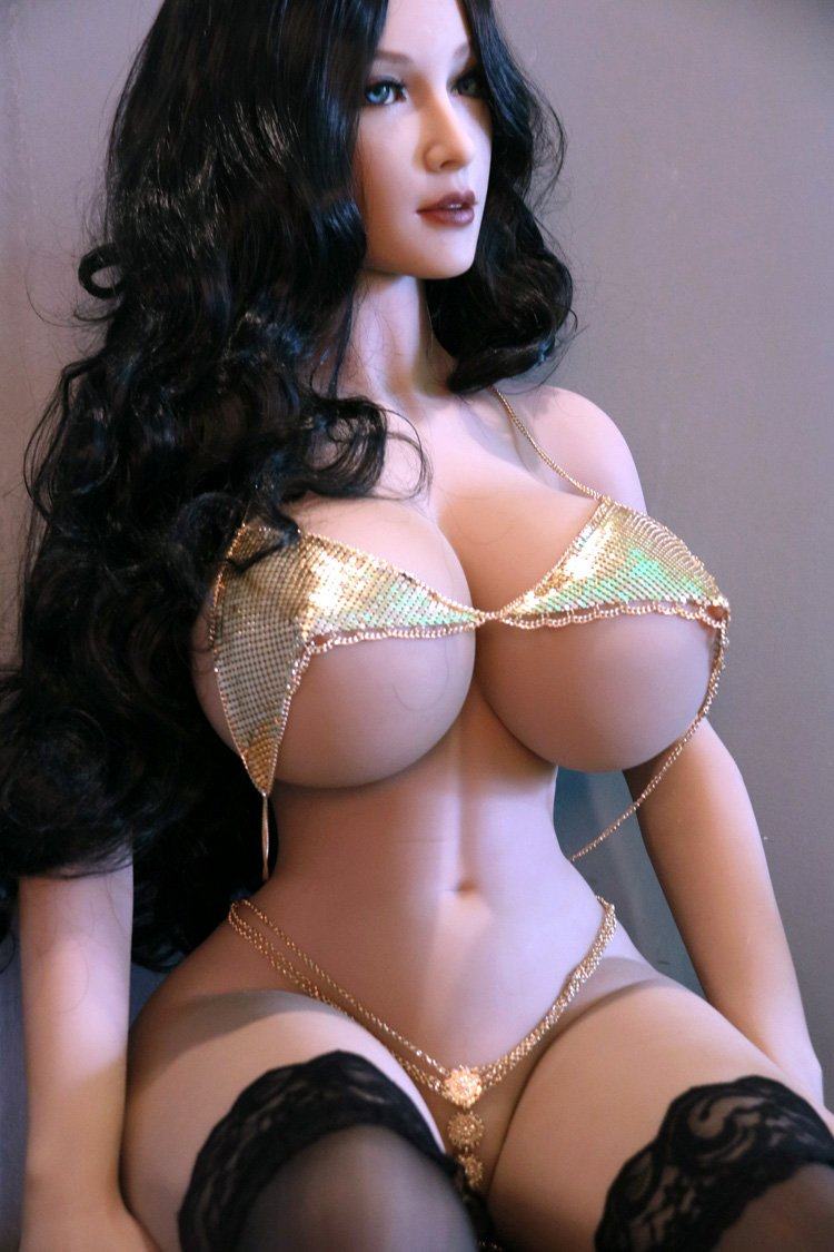 cassidy 153cm black hair curvy giant massive tits jy tan skin tpe sex doll