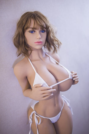 blanche 153cm brown hair curvy giant massive tits jy tpe sex doll(11)