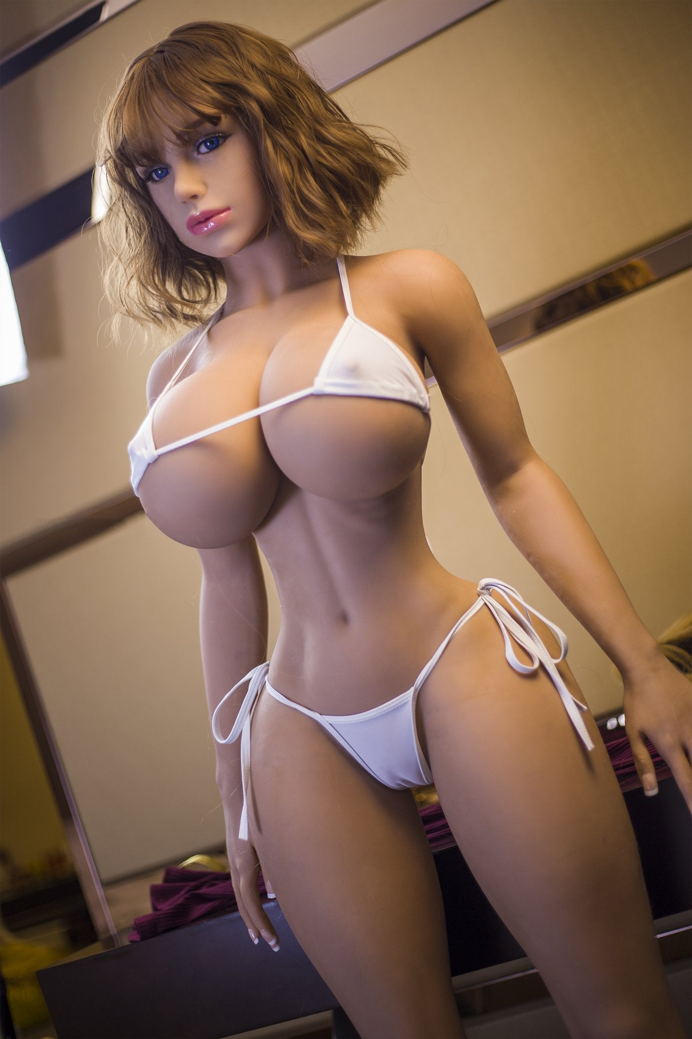 blanche 153cm brown hair curvy giant massive tits jy tpe sex doll(9)