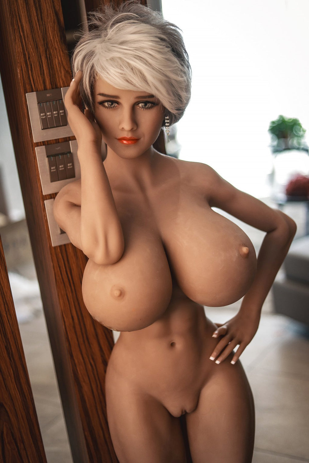 marin 150cm blonde curvy giant massive tits jy tan skin tpe sex doll