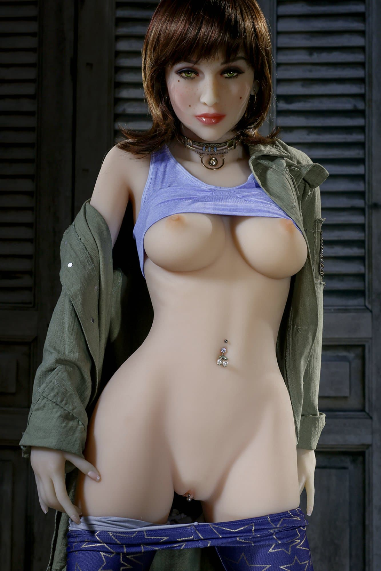 bernadette 155cm brown hair medium tits athletic tpe yl sex doll(11)