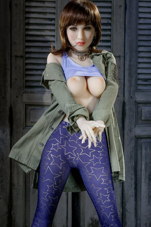 bernadette 155cm brown hair medium tits athletic tpe yl sex doll(7)