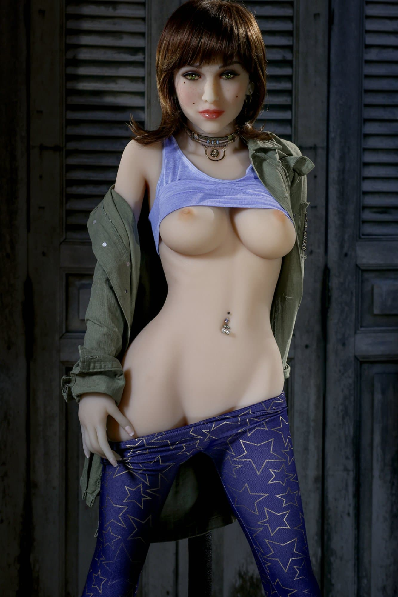 bernadette 155cm brown hair medium tits athletic tpe yl sex doll(8)