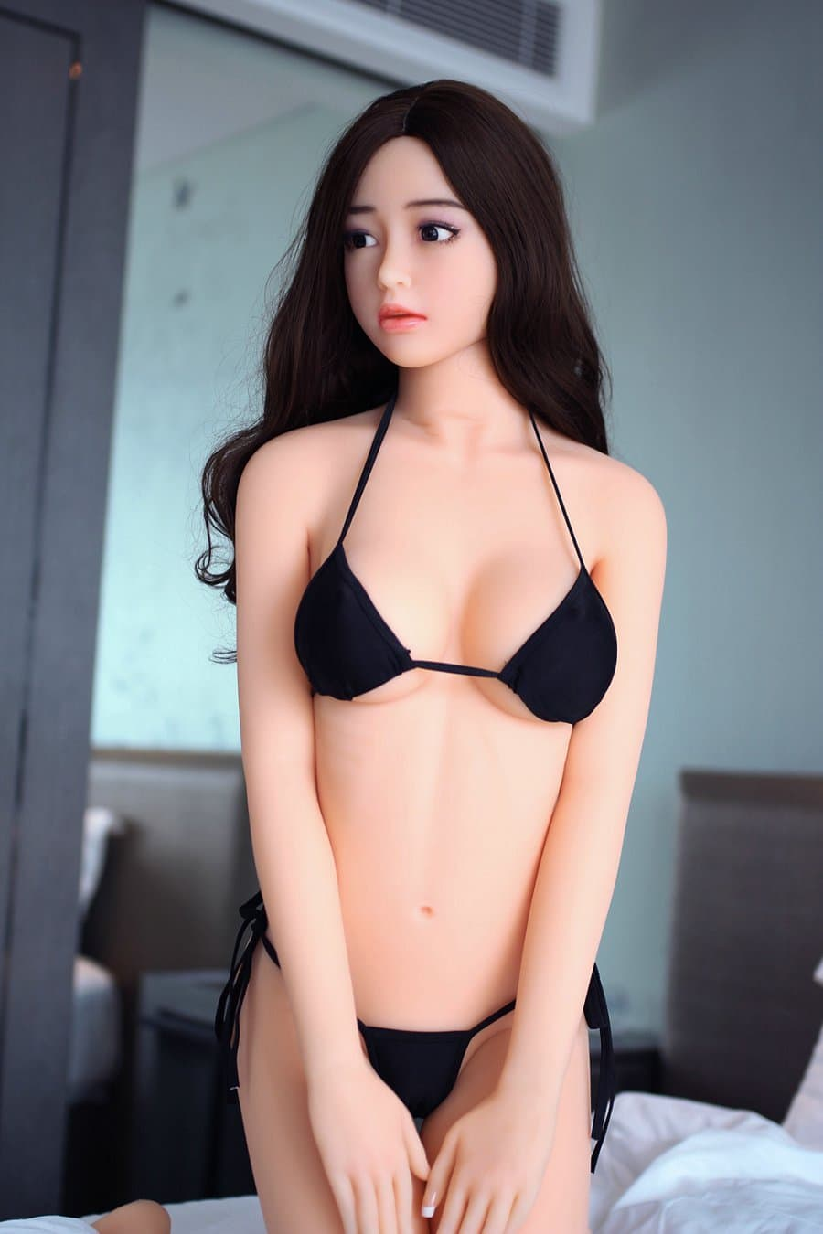 tuesday 168cm af black hair japanese big boobs skinny tpe asian sex doll(2)