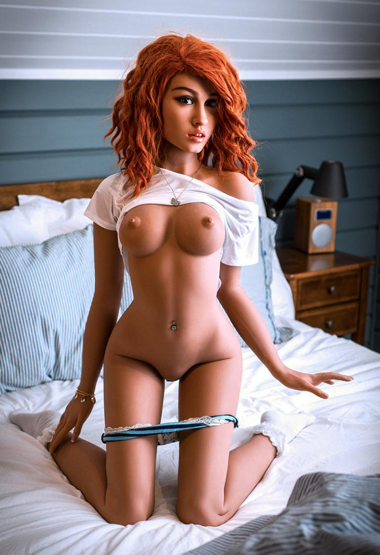 shareeka 157cm skinny best red hair flat chested tpe wm sex doll(10)