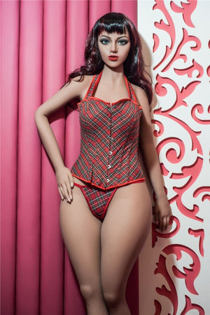 wendy 160cm black hair medium tits athletic tan skin tpe sex doll(11)