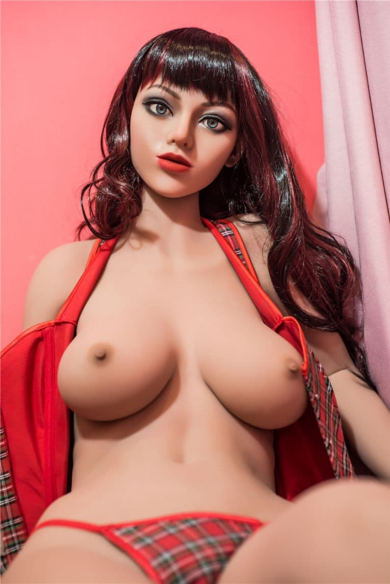 wendy 160cm black hair medium tits athletic tan skin tpe sex doll(7)
