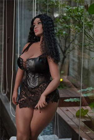 bettye 158cm black hair brown curvy giant massive tits tpe sex doll
