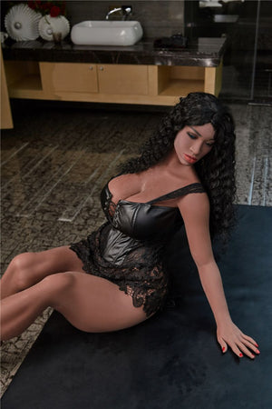 bettye 158cm black hair brown curvy giant massive tits tpe sex doll(8)