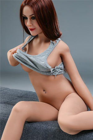 sharon 155cm skinny red hair flat chested tpe sex doll