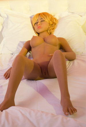 joey 140cm af blonde medium tits athletic tan skin tpe sex doll(5)