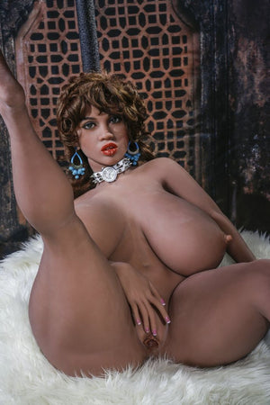 darci 146cm 4ft7 brown hair curvy giant massive tits tan skin tpe yl bbw small sex doll(9)