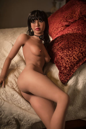 diane 168cm black hair skinny flat chested tan skin tpe yl sex doll(7)