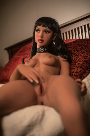 diane 168cm black hair skinny flat chested tan skin tpe yl sex doll(8)