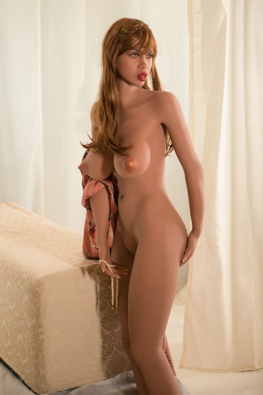 abby 157cm featured big boobs athletic red hair tan skin tpe yl sex doll(5)