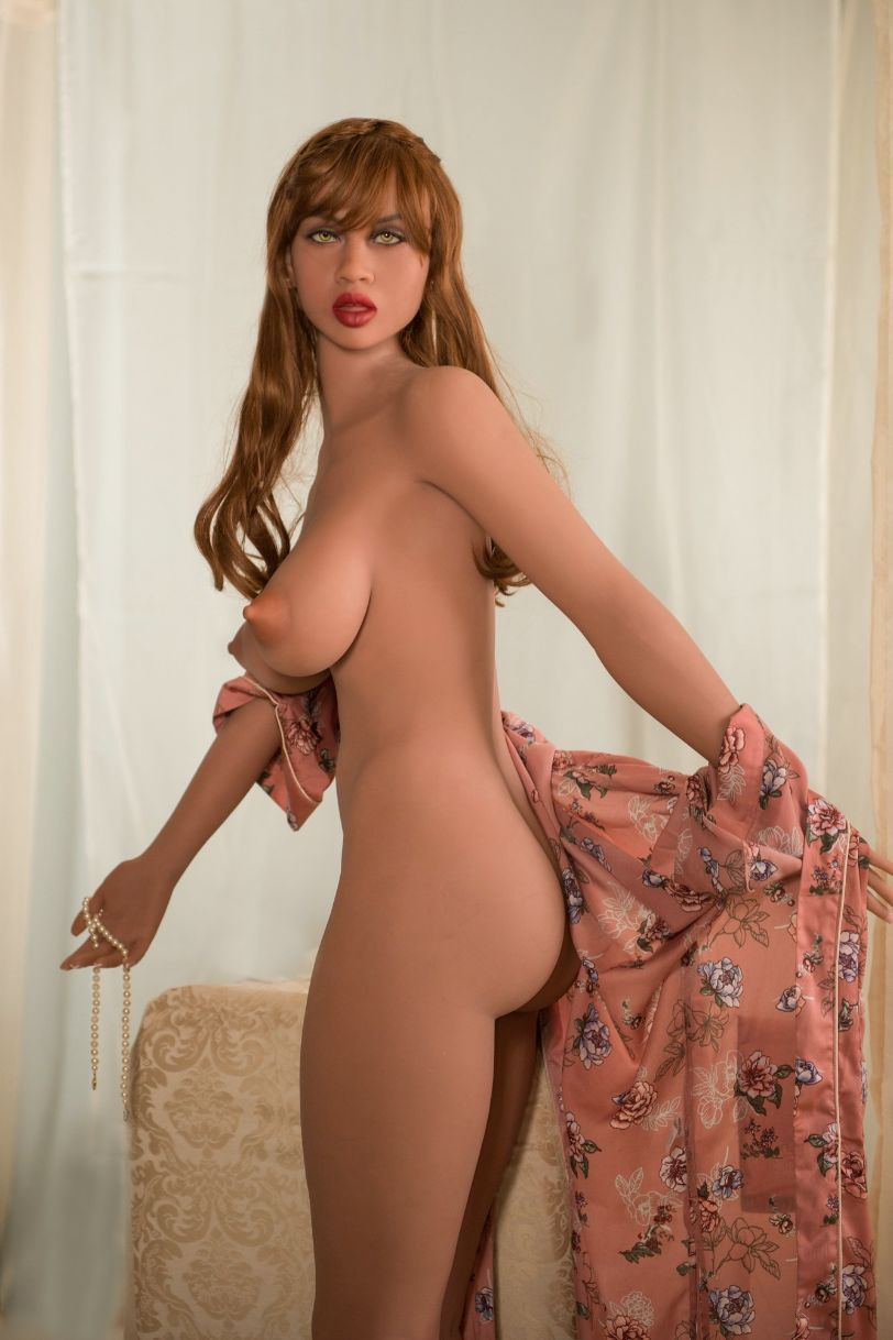 abby 157cm featured big boobs athletic red hair tan skin tpe yl sex doll(7)