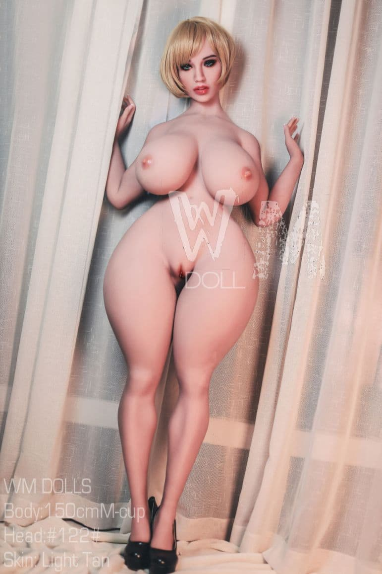 hunter 150cm brown hair curvy giant massive tits tpe wm bbw sex doll(8)
